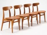H. J. Wegner. Dining chairs, model CH-30 (4)