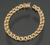Viggo Pedersen. Bismark armbånd 14 kt guld