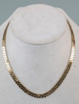Vintage Collier af 18 kt guld, bikubemønster 33 gr.