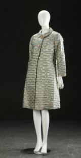 Jakke og kjole i guldbrokade, 1960'erne (2)