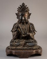 Chinese Guanyin figure in bronze, Ming Dynasty (1368-1644)
