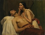 Ubekendt maler, 1800-tallet. 'Jacques van Arteveldes dødsleje'. Olie på lærred