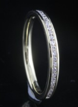 Goldplated diamond ring approx. 0.16ct