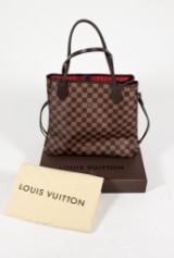 Louis Vuitton, Damier Ebène, 'Neverfull', dustbag och kartong