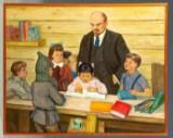 Aleksandr Kirilovich Voloshin, Lenin with school children