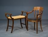 Skønvirke armstol samt klaverbænk, 1900-tallet (2)