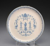 French Regence visiting card dish, faience, 18th century