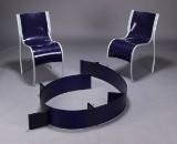 Ron Arad. Par spisestole samt væghængt reol (3)