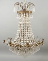 Stor ljuskrona empirstil sent 1900-tal