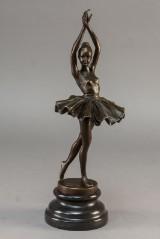 Bronzefigur af balletpige