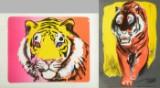 Uffe Christoffersen, litografier, komposition med tigre, (2)