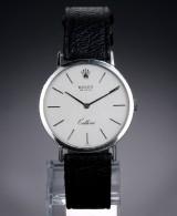 Rolex 'Cellini'. Herreur i 18 kt. hvidguld med sølvfarvet skive