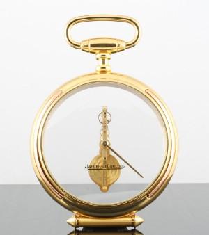 Jaeger LeCoultre Vintage skeleton pocket watch desk clock rare item!