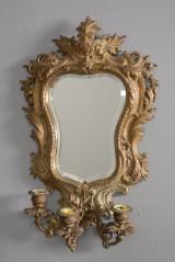 Lampet spejl i bronce