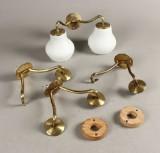 Dansk lampeproducent, væglamper, opal (4)