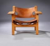 Børge Mogensen. 'Den spanske stol', model 226, eg, tidlig model