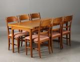 Carl Malmsten, Åfors Möbelfabrik. 'Calmare nyckel' dining table and chairs (7)