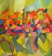 "Helga Radener-Blaschke, FineArt-Druck auf Leinwand Nr. 001/120 ""Abstrakte Farbkomposition"""