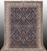 Carpet, figural Nain with silk outlines, signed 295 x 203