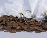 Samling mynt, Sverige, ca 12 kg