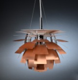 Poul Henningsen. Pendant lamp, PH Artichoke, copper with accompanying numbered certificate. Ø 48 cm