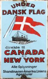 Enamel sign, Canada and New York, Amerika Linien