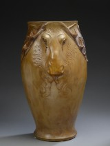 Karl Hansen Reistrup for Kähler. Floor vase with elk heads