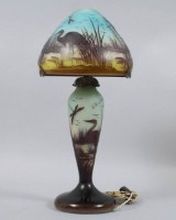 Le verre Francais bordslampa glas 1920/30-tal