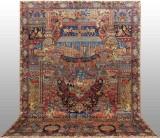 Oriental carpet, figural Kashmar, 406x292 cm