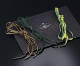 Ole Lynggaard. Tre Design snore i silke/bomuld med endestykker af sterlingsølv (3)