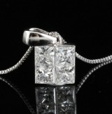 18kt diamond pendant necklace approx. 0.75ct