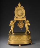 Charles X kaminur af forgyldt bronze, ca. 1820