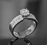 Diamond ring, approx. 1.37 ct.