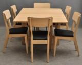 Östen Kristiansson, dining suite, oak (7)