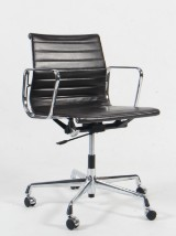 Charles Eames. Office chair, model EA-117, brown leather