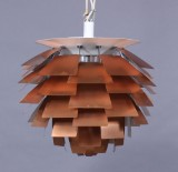 Poul Henningsen. PH Artichoke, copper, Ø 60 cm. Early model