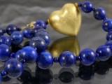 Kette aus Lapis Lazuli und Sterlingsilber
