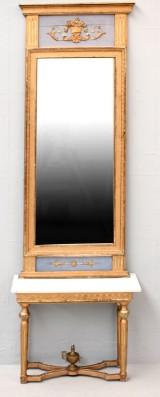 Spegel med konsolbord, gustaviansk stil, 1800-tal (2)