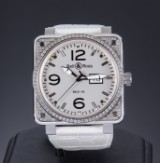 Bell & Ross men's watch with diamonds, BR0196-TOPD