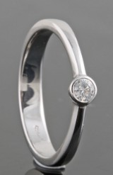 Diamond ring in platina approx. 0.08ct