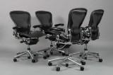 Donald Chadwick & William Stump. Four adjustable office chairs, model Aeron Executive B (4)