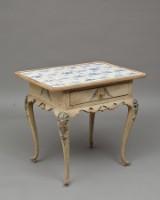 Dansk rokoko flisebord 1700 tallet