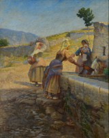 Johannes Wilhjelm. Italian landscape from Civita d' Antino