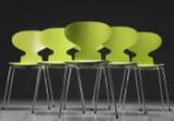 Arne Jacobsen. Seks 'Myrestole' model 3101 (6)