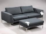 Modern design, three-seater sofa and pouf, model Sigurd