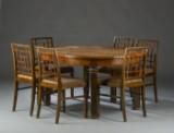 Art Deco, Spisestue, seks stole samt spisebord (8)