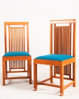 Frank Lloyd Wright, two chairs model Coonley 2 for Cassina (2)