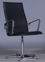 Arne Jacobsen. Oxford office chair, model 3273, high-gloss chrome