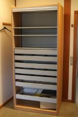 Jalousiskab, bøg og aluminium, dansk møbelproducent (2)