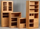 Jens Hansens Møbelsnedkeri. Shelving system, solid oak - six modules